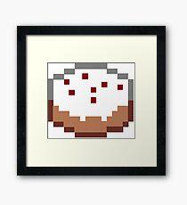 Minecraft Cake Framed Print