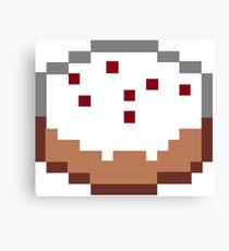Minecraft Cake Canvas Print