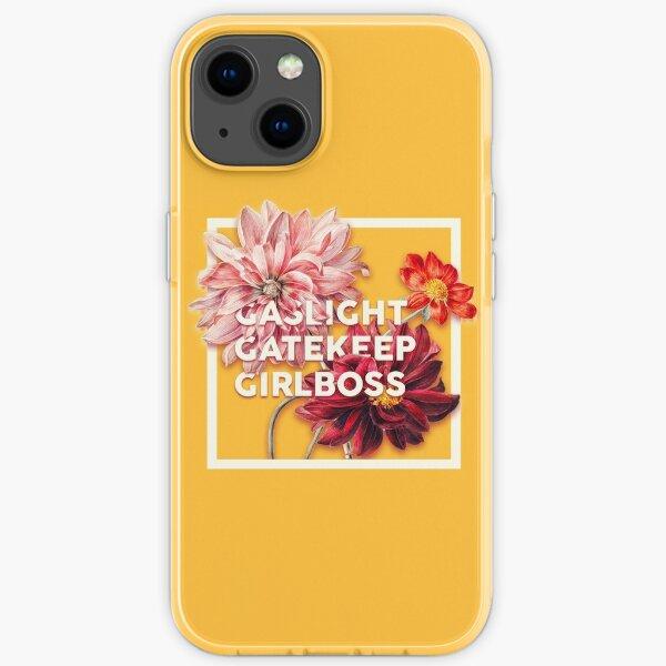 Gaslight Gatekeep Girlboss 2 - Funny Live Love Laugh poke fun parody | Gas light Gate keep Girl boss | Wine Mom meme iPhone Soft Case