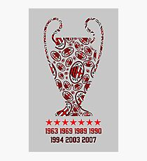 AC Milan - Champions Legaue Winners Photographic Print