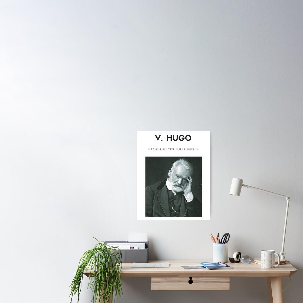 Cita de Victor Hugo   camiseta - decoración - papelería Póster