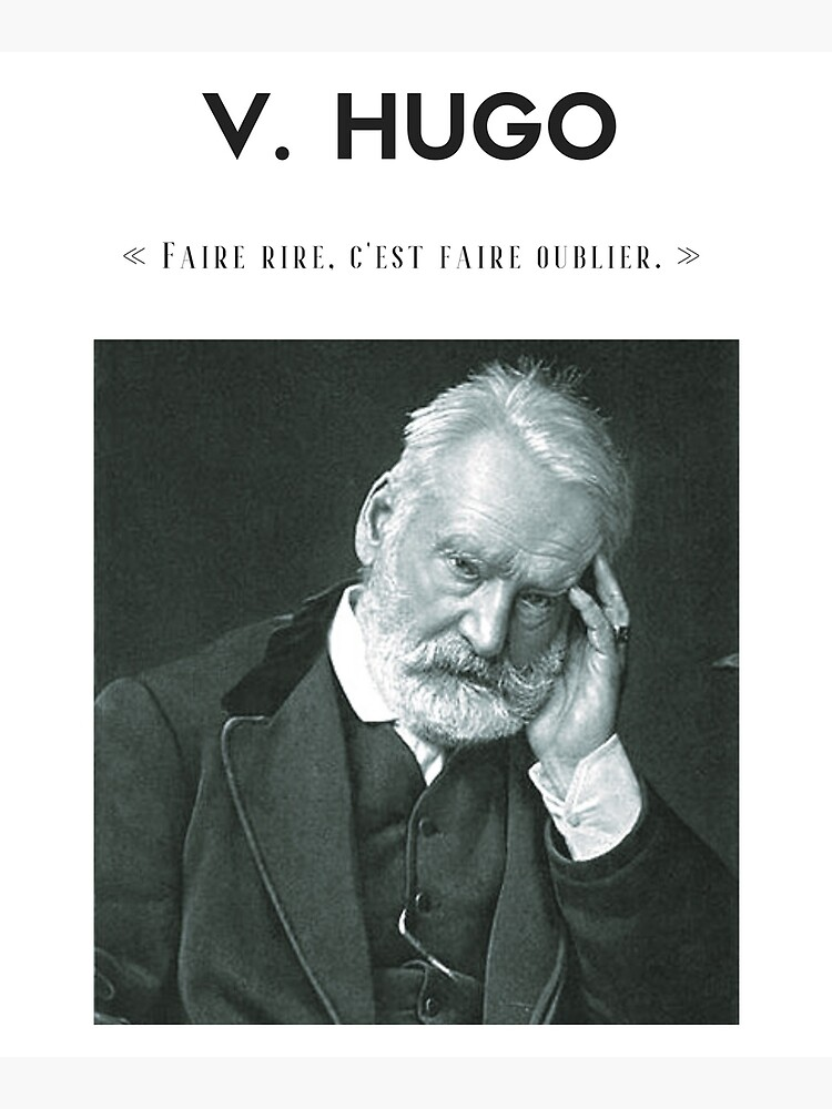 Cita de Victor Hugo   camiseta - decoración - papelería de Lapetiteredac