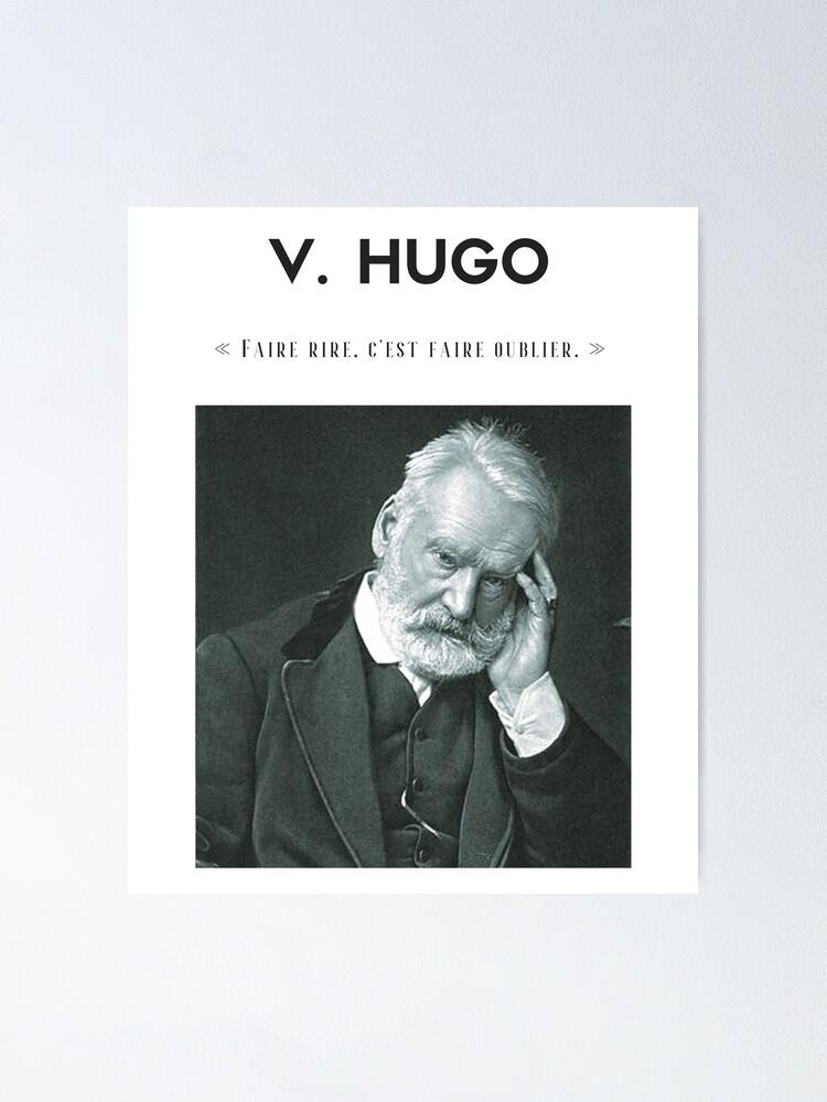 Vista alternativa de Póster Cita de Victor Hugo   camiseta - decoración - papelería