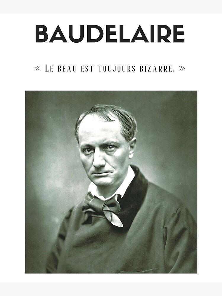 Cita de Baudelaire | camiseta - decoración - papelería de Lapetiteredac