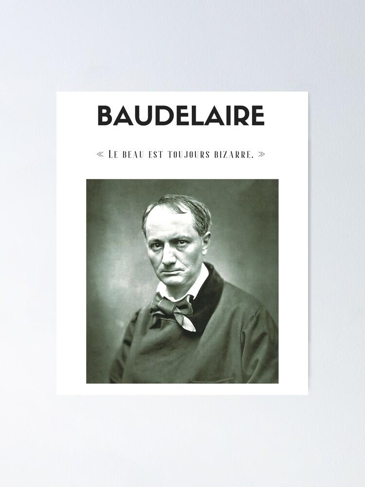 Vista alternativa de Póster Cita de Baudelaire | camiseta - decoración - papelería