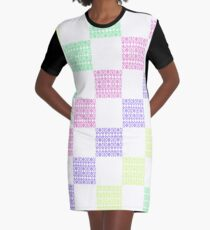Anna Geometric Pattern Graphic T-Shirt Dress
