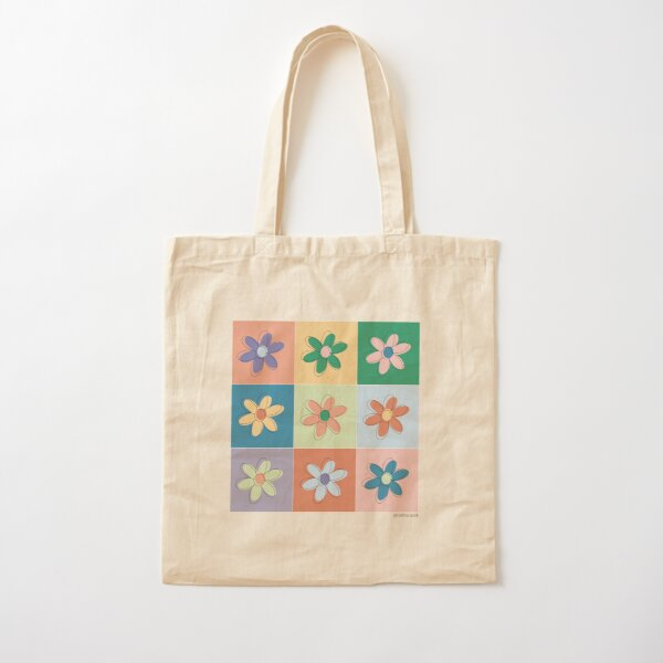 Flower Power Cotton Tote Bag