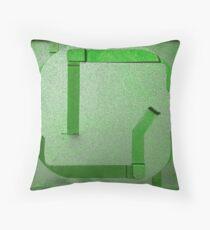 Round Wrap Green Throw Pillow
