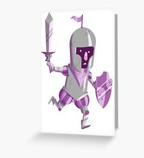 Nervous Knight Greeting Card