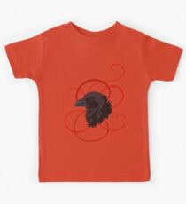 Black Raven with Red Ribbon Custom Design Kids Clothes
