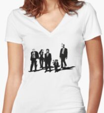 Reservoir A-Holes Women's Fitted V-Neck T-Shirt
