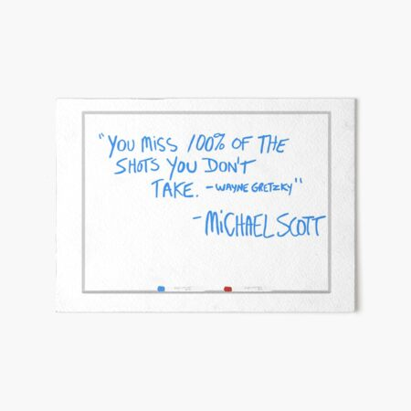 The Office whiteboard quote Art Board Print
