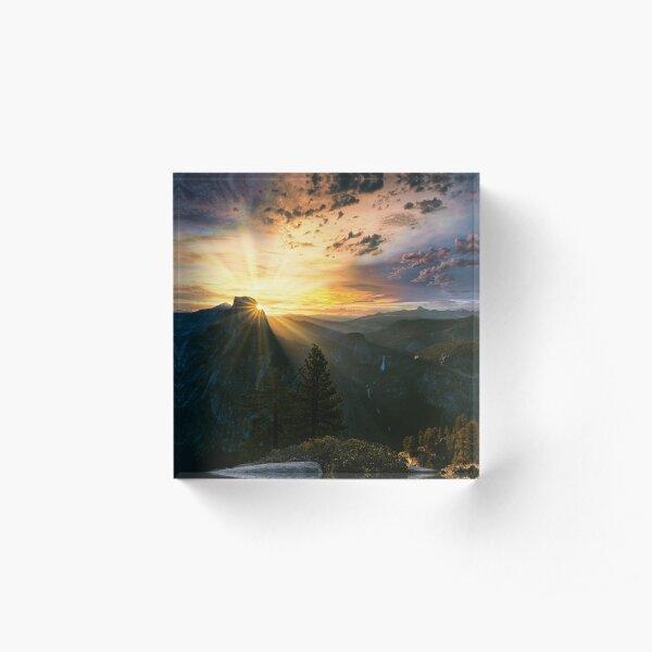 Glacier Point Sunrise Acrylic Block