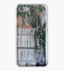 Cherry Tree And Ivy Plein Air Contemporary Acrylic Painting iPhone Case/Skin
