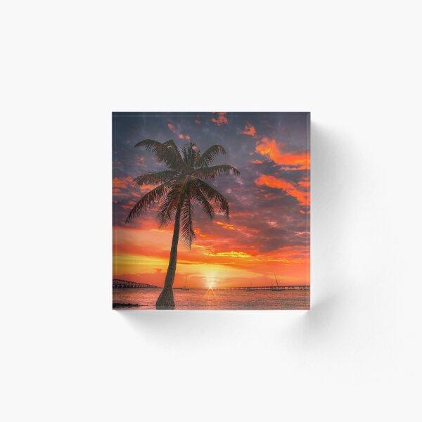 Florida Sunset Acrylic Block