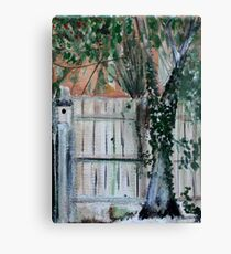 Cherry Tree And Ivy Plein Air Contemporary Acrylic Painting Canvas Print