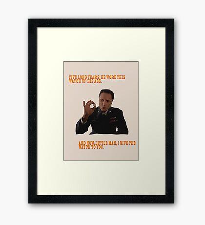 El Reloj - Pulp Fiction Lámina enmarcada