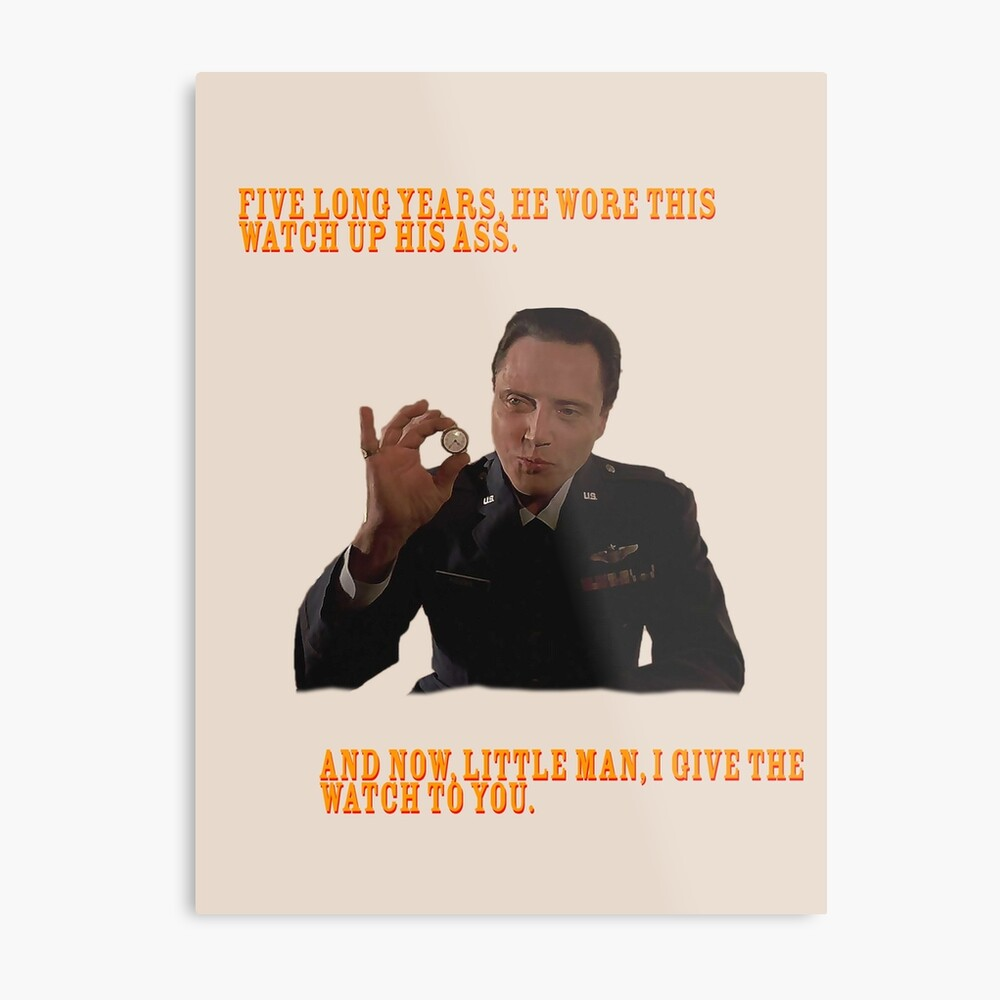 El Reloj - Pulp Fiction Lámina metálica