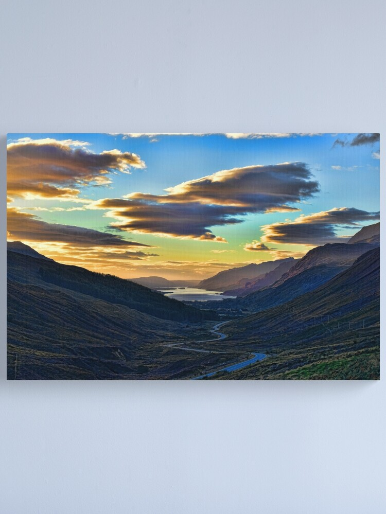 Alternate view of Looking West to Loch Maree-Scotland Canvas Print
