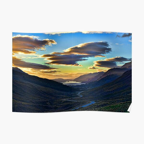 Looking West to Loch Maree-Scotland Poster