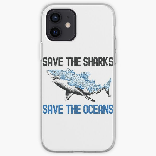 Save The Sharks Save The Ocean iPhone Soft Case