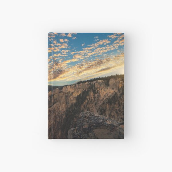 Yellowstone Artists Point Sunset Hardcover Journal