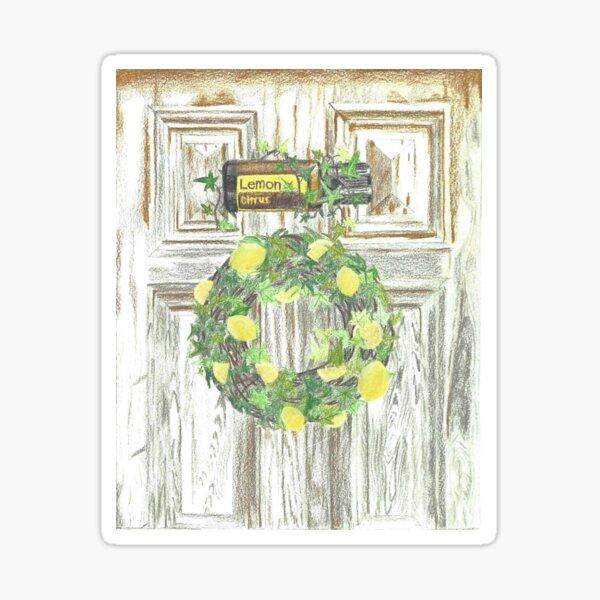 Essential Oils Lemon Wreath Sticker