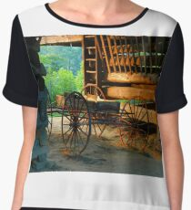 Barn and Wagon Women's Chiffon Top