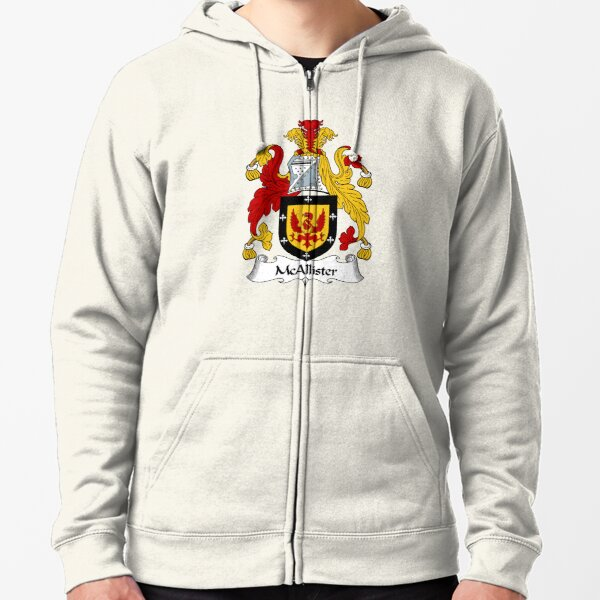 McAllister Coat of Arms / McAllister Family Crest Zipped Hoodie