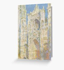 Claude Monet - Rouen Cathedral Greeting Card