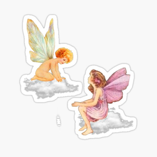fairy and angel Sticker