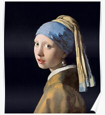 Vermeer - Girl with Pearl Earring Poster