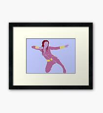 Fighting in Pink Framed Print