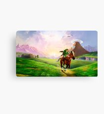 TLOZ Ocarina of Time - Hyrule Field Canvas Print