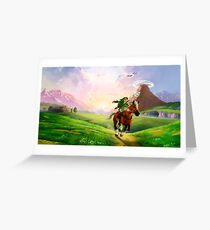 TLOZ Ocarina of Time - Hyrule Field Greeting Card