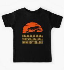 BAAAAAAAAAAAAA SOWENYAAAAAAAAAA MAMABEATSEBABAH Afrikanisches Löwe-T-Shirt Kinder T-Shirt