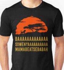 BAAAAAAAAAAAAA SOWENYAAAAAAAAAA MAMABEATSEBABAH African Lion T Shirt Slim Fit T-Shirt
