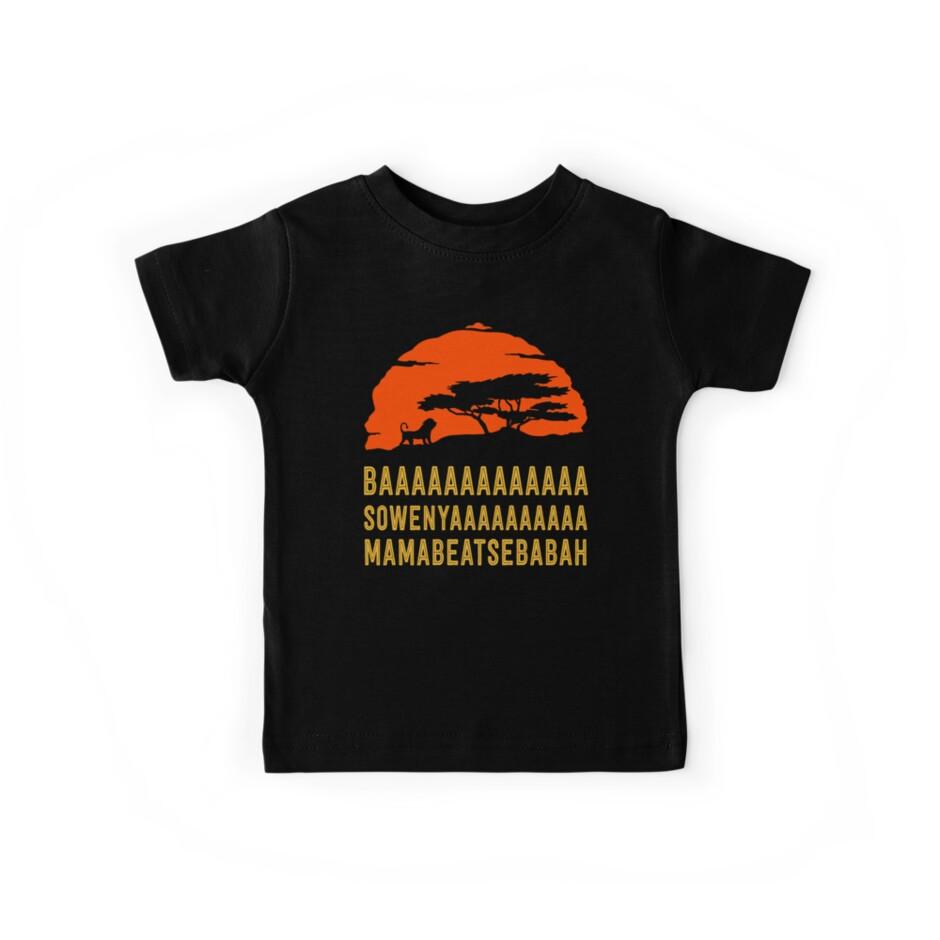BAAAAAAAAAAAAA SOWENYAAAAAAAAAA MAMABEATSEBABAH African Lion T Shirt by bitsnbobs