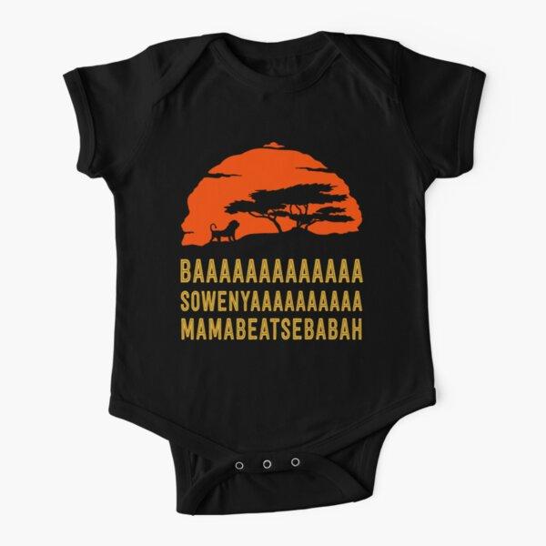 BAAAAAAAAAAAAA SOWENYAAAAAAAAAA MAMABEATSEBABAH African Lion T Shirt Short Sleeve Baby One-Piece