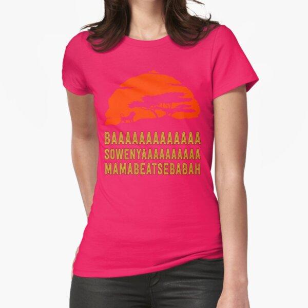 BAAAAAAAAAAAAA SOWENYAAAAAAAAAA MAMABEATSEBABAH African Lion T Shirt Fitted T-Shirt