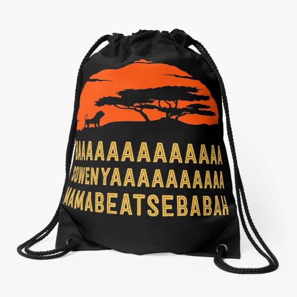 BAAAAAAAAAAAAA SOWENYAAAAAAAAAA MAMABEATSEBABAH African Lion T Shirt Drawstring Bag