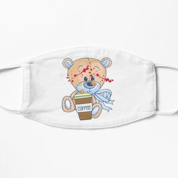 Coffee zombie bear Flat Mask