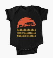 BAAAAAAAAAAAAA SOWENYAAAAAAAAAA MAMABEATSEBABAH African Sunrise Elephants Shirt One Piece - Short Sleeve