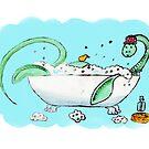 Plesiosaur in the bath by Andrea England