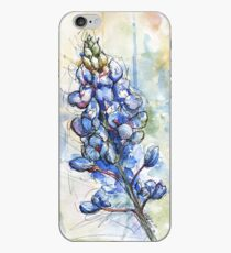 Texas Bluebonnet Wildflower Watercolor iPhone Case