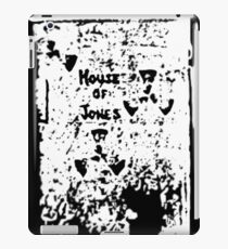 The House of Jones - white on black iPad Case/Skin