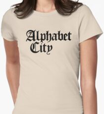 Alphabet City NYC Gothic (Black Print) Womens Fitted T-Shirt