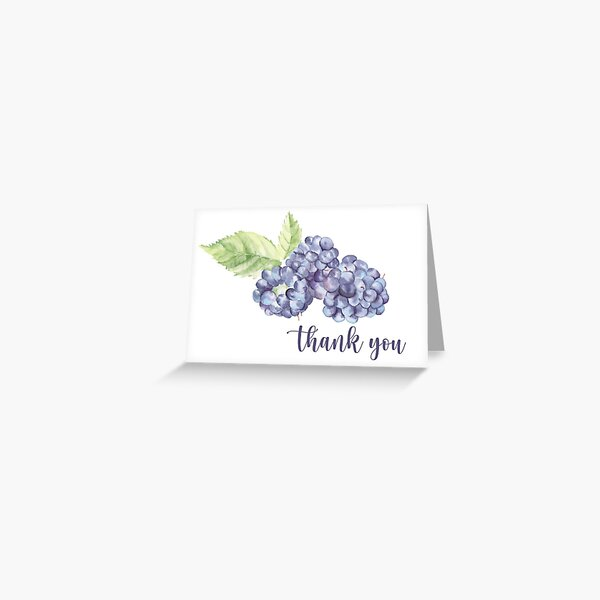 Blackberry Thank You Card Greeting Card