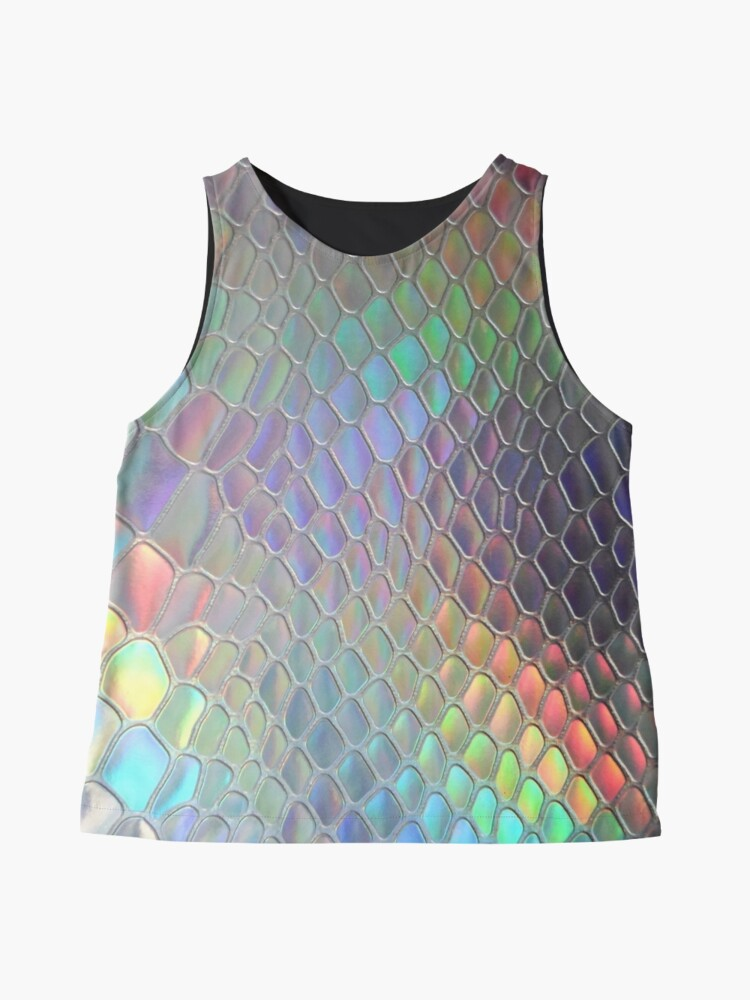 Alternate view of Holographic croc Sleeveless Top