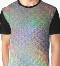 Holografisches Krok Grafik T-Shirt